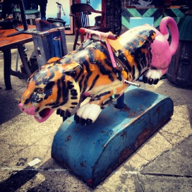 Brooklyn Flea Market: Half tiger, half pink panther